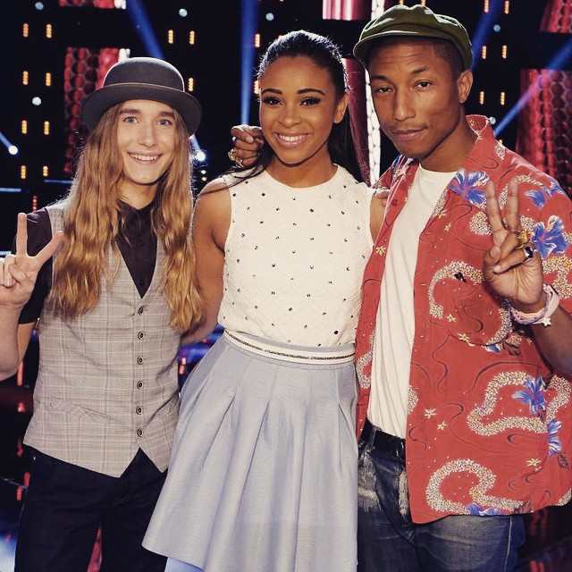 Pharell Williams with his Team members including Sawyer Fredericks
