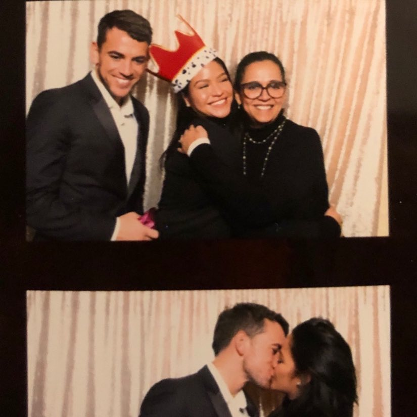 Cassie Ventura shares a pictures with her new man, Alex Fine and mother