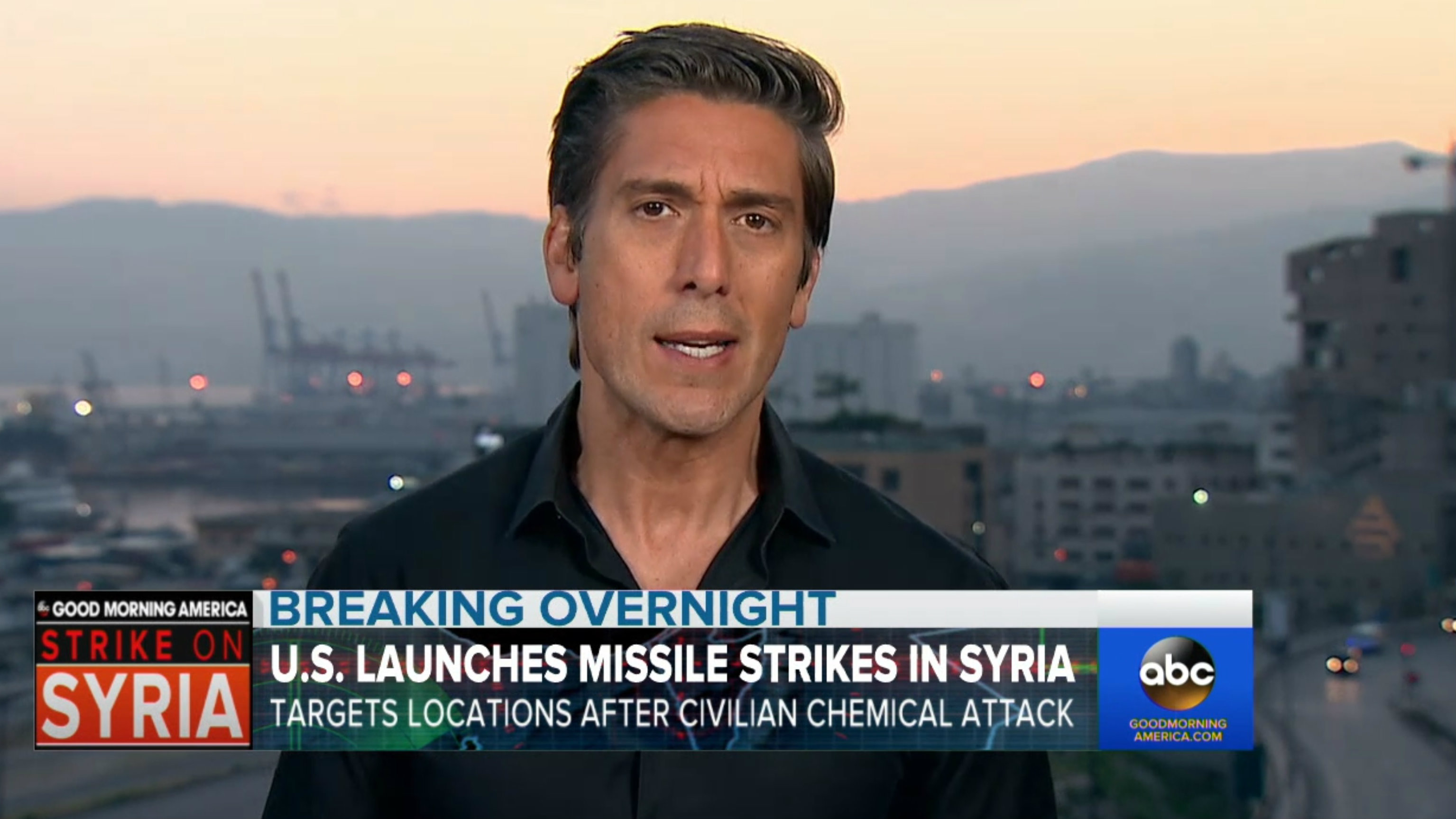 David covers the latest on the Syrian war on ABC