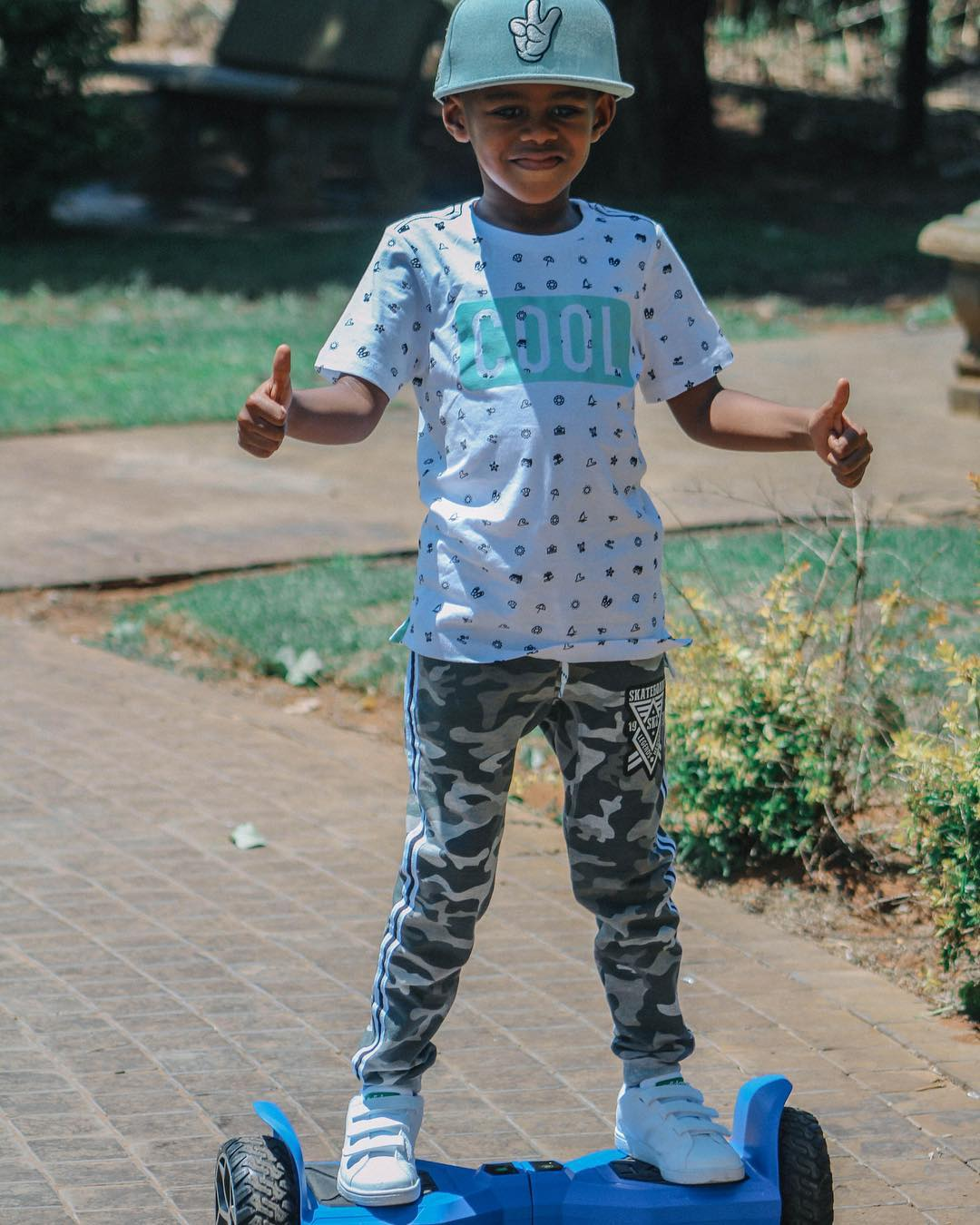DJ Arch Jnr on hoverboard