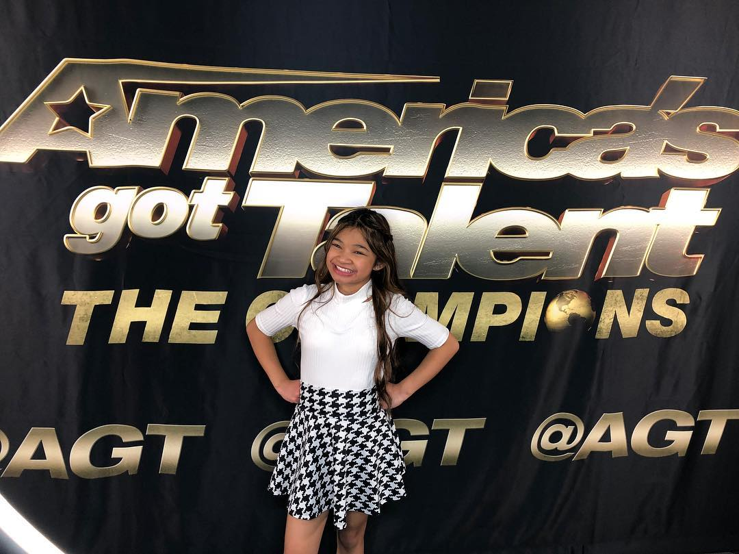 Angelica Hale in the set of AGT: The Champions
