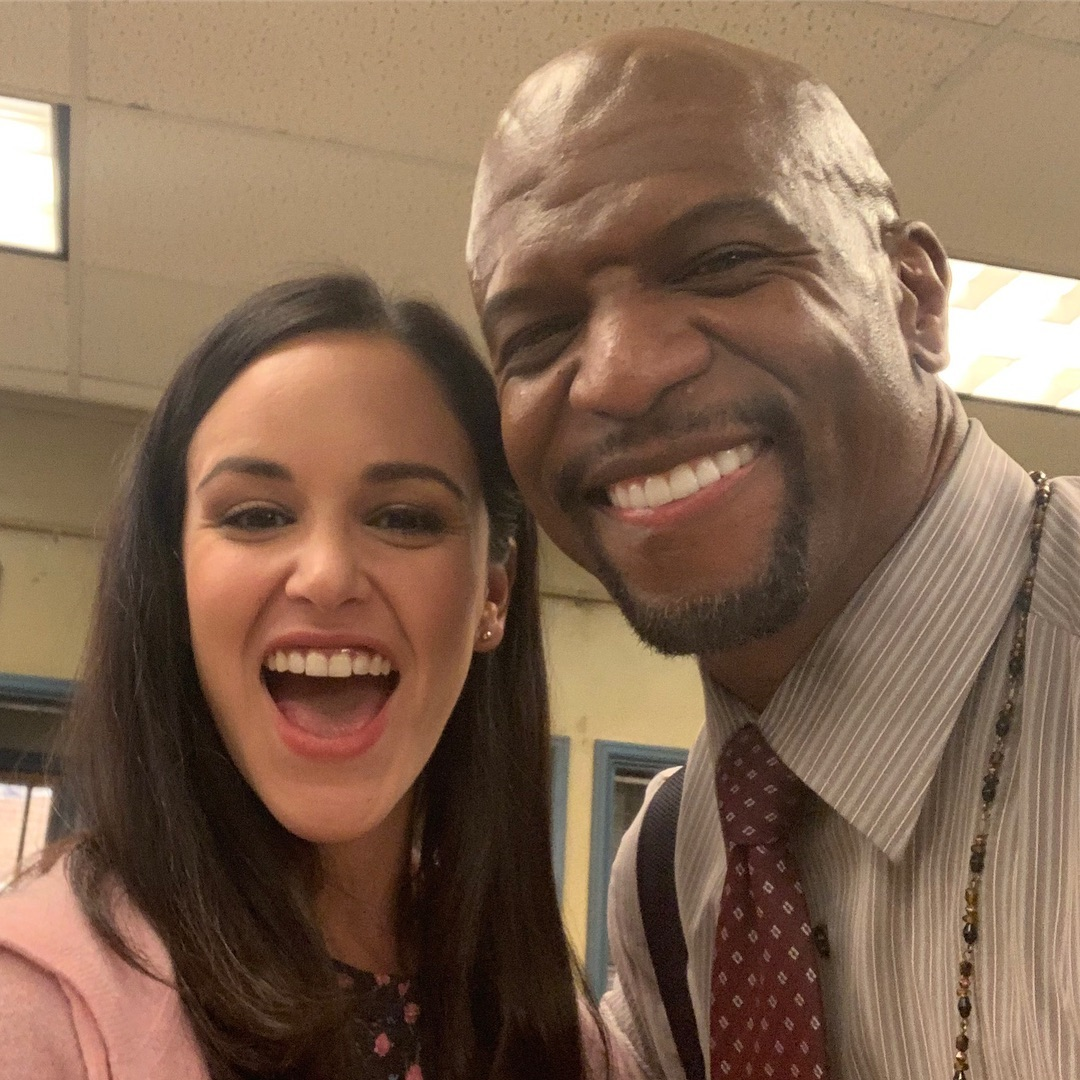 Melissa Fumero taking a selfie with Terry Crews