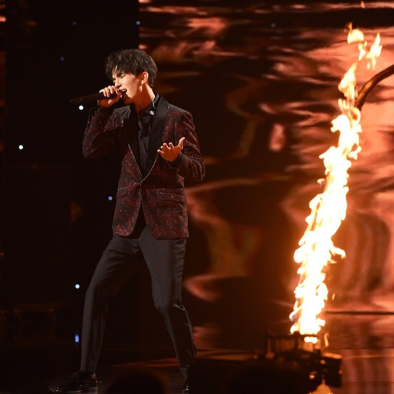 Dimash Kudaibergen on the stage of The World's Best
