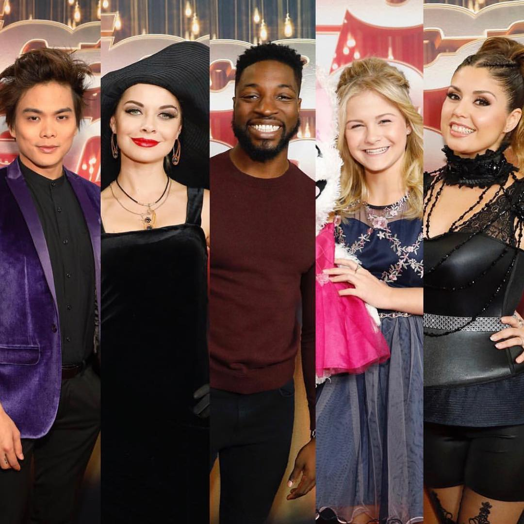 Shin Lim, Kseniya Simonova, Preacher Lawson, Darci Lynne Farmer and Cristina Ramos (From Left to Right)